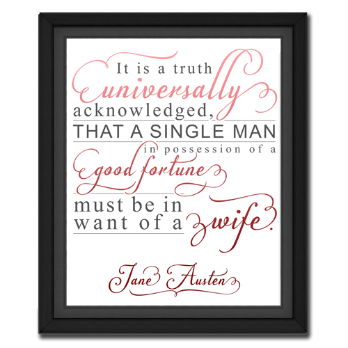 Universal Truth Red | Quotation Picture