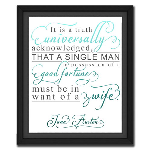 Universal Truth Turquoise | Quotation Picture