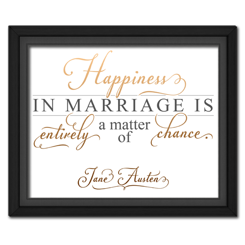 Happiness Brown | Quotation Picture