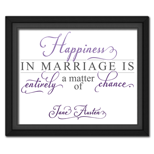 Happiness Purple | Quotation Picture