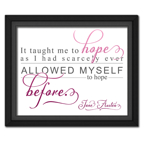 Hope Pink | Quotation Picture