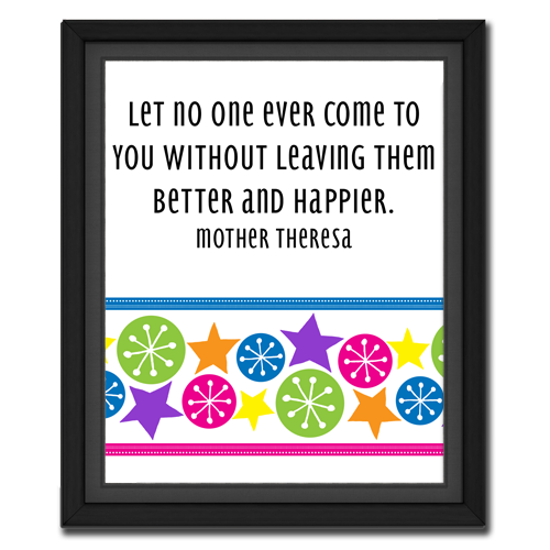 Leave Them Better & Happier | Quote Picture