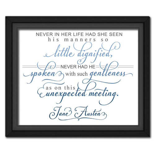 Unexpected Meeting Blue | Quotation Picture