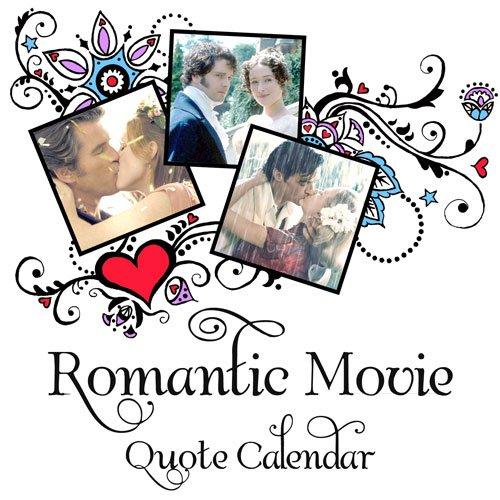 Romantic Movie Quote Calendar
