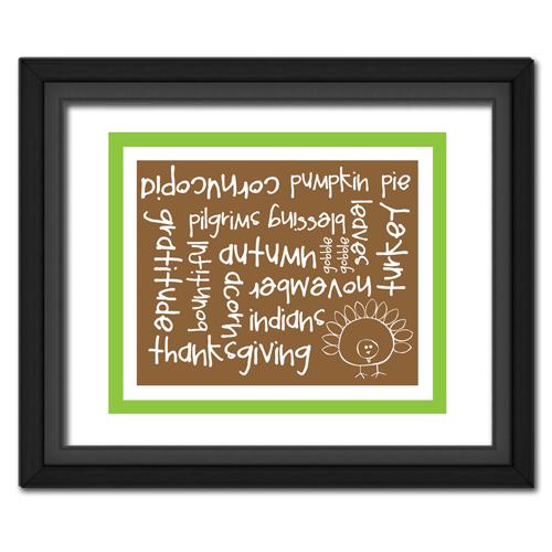 Thanksgiving Words Green