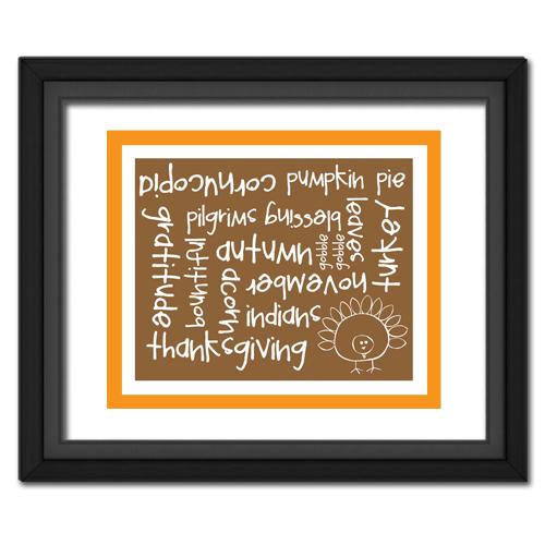 Thanksgiving Words Orange