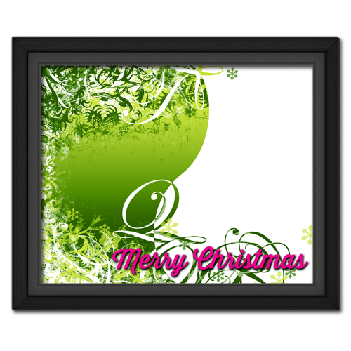 Christmas Swirls Lime