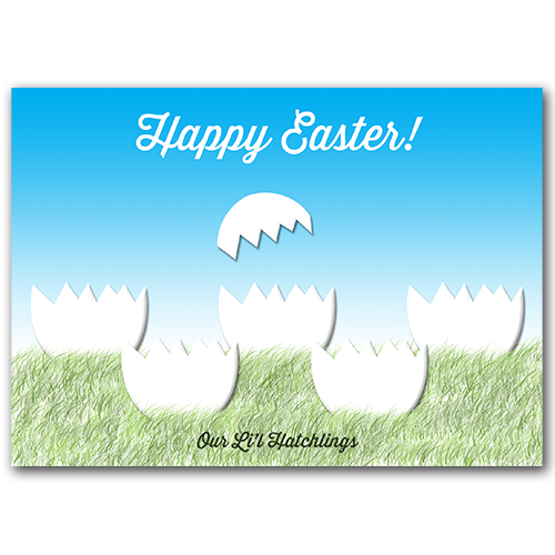 Easter Hatchling Card PSD Template #freedownload
