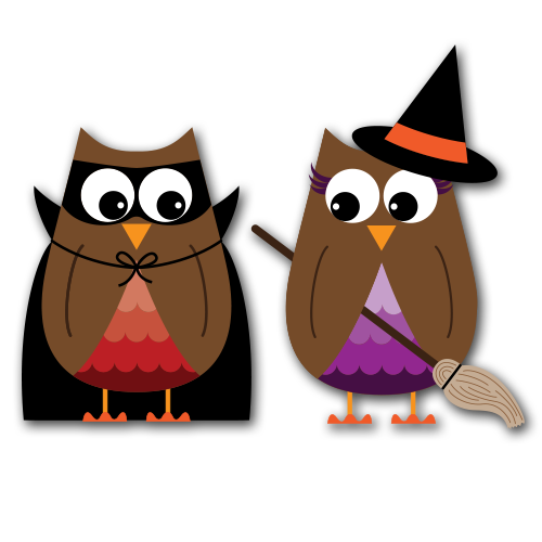 Halloween Owls Clip Art