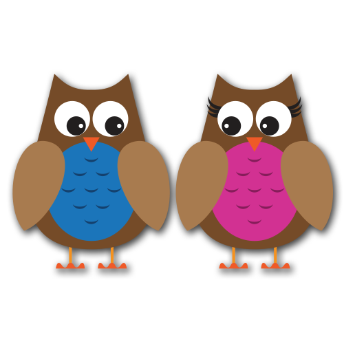 Owls Version 2b Clip Art SVG