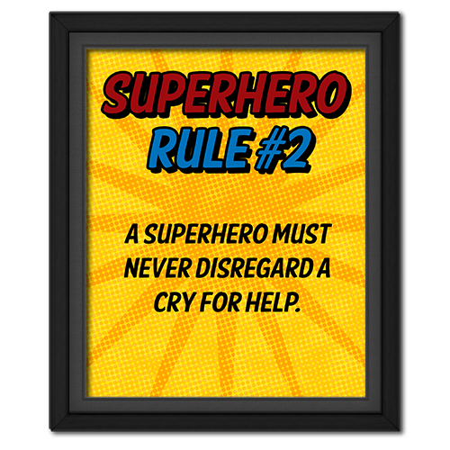 Superhero Rule 2 Poster #superhero