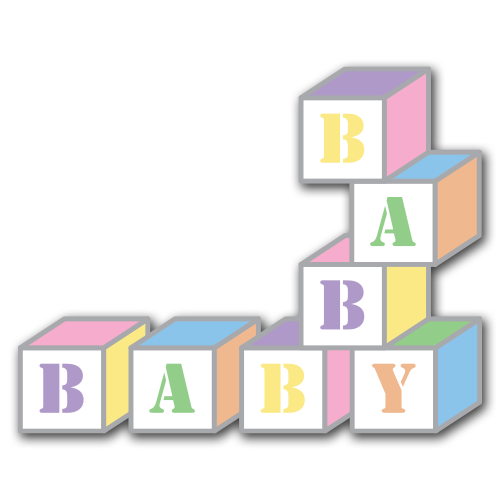 Baby Blocks Clip Art Set ** Free Download **