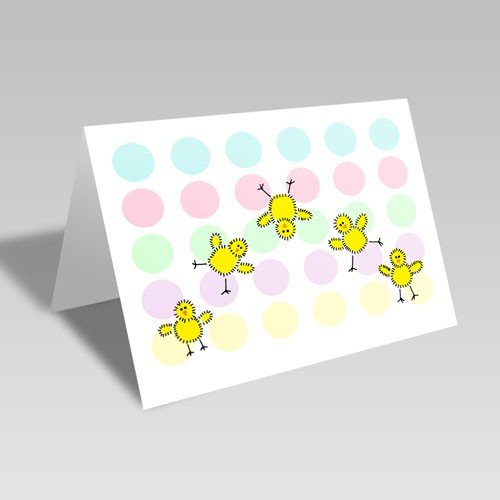 Easter Chicks & Dots Card