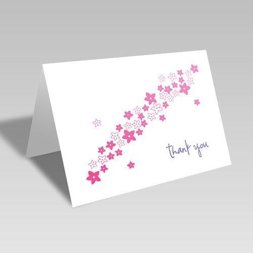 Flower Spray Thanks Card