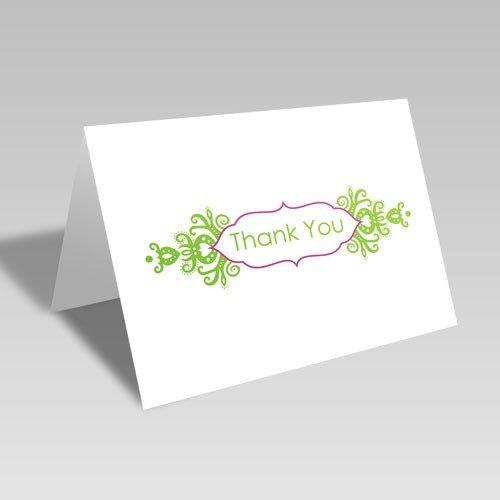 Thank You Brocade Frame Card