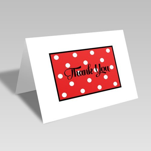 Thank You Dots Card: Red #freebie #freedownload