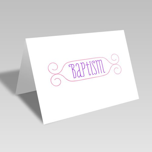 Baptism Card - Pink