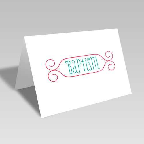 Baptism Card - Red