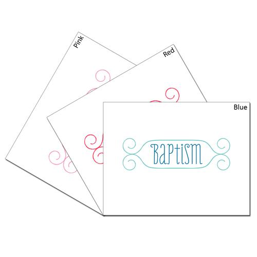 Baptism Card Set - 1 of each