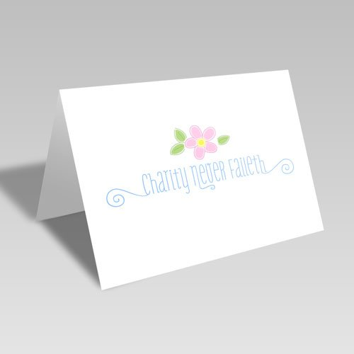 Charity Pink Flower Card #lds #reliefsociety