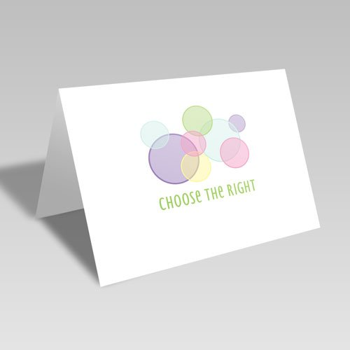 CTR Circles Card - Pastel #choosetheright
