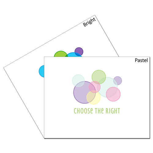 CTR Circles Card Set - One of Each #choosetheright