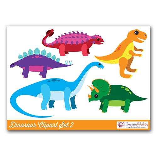 Dinosaur Clip Art Set 2