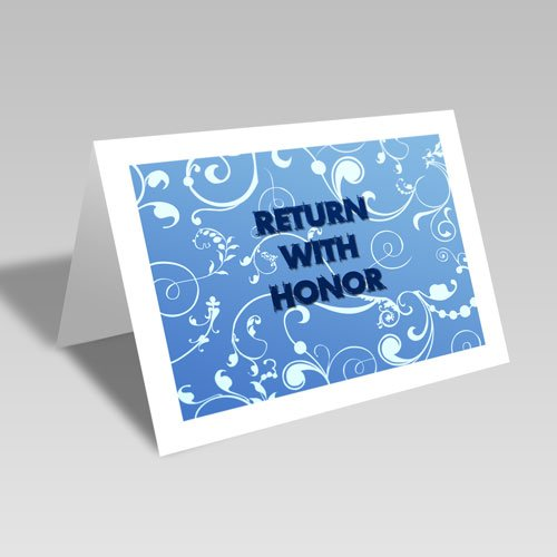 Return With Honor Card - Blue #lds #missionary