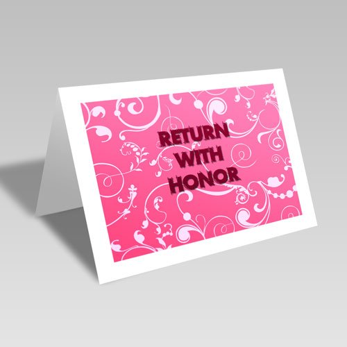 Return With Honor Card - Pink #lds #missionary