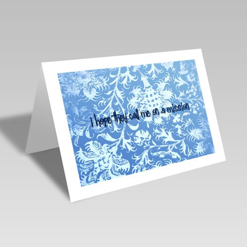Mission Hopes Card - Blue #lds #missionary