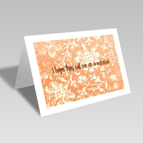 Mission Hopes Card - Orange #lds #missionary