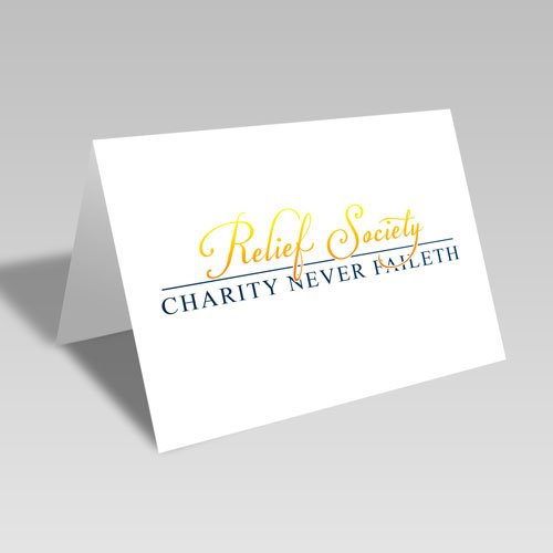 Relief Society & Charity Never Faileth Card - Gold #lds #reliefsociety
