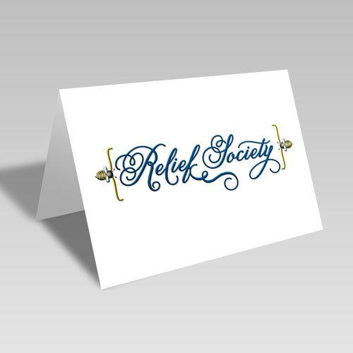 Relief Society Fancy Bee Card #lds #reliefsociety