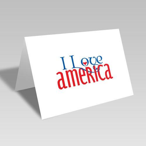 I Love America Card