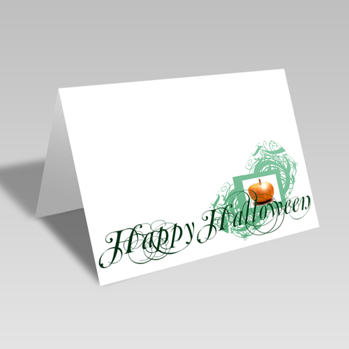 Green Halloween Card