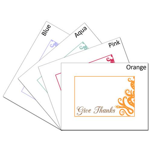 Give Thanks Elegant Card Set: 1 of each color