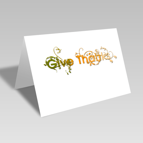 Give Thanks Vines Card: Nature