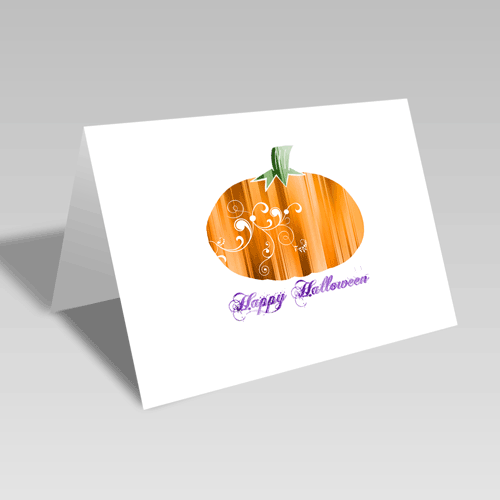 Stripey Halloween Card