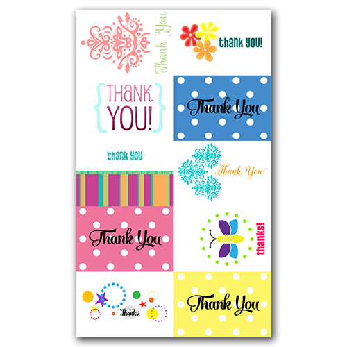 Thank You Gift Tags Set 1