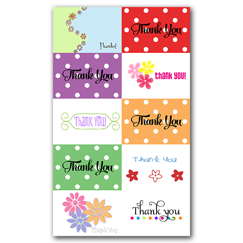 Thank You Gift Tags Set 2