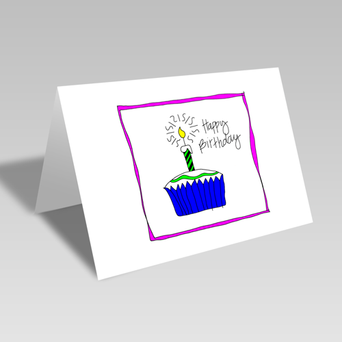 Birthday Cupcake Card **Free Printable Download **