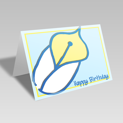Birthday Lily Card