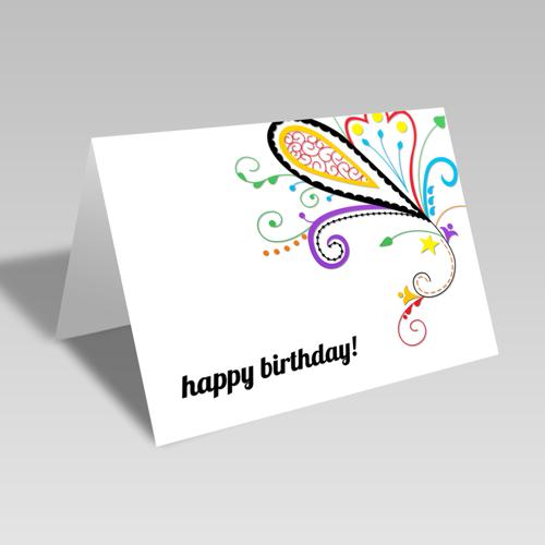 Happy Birthday Paisley Card