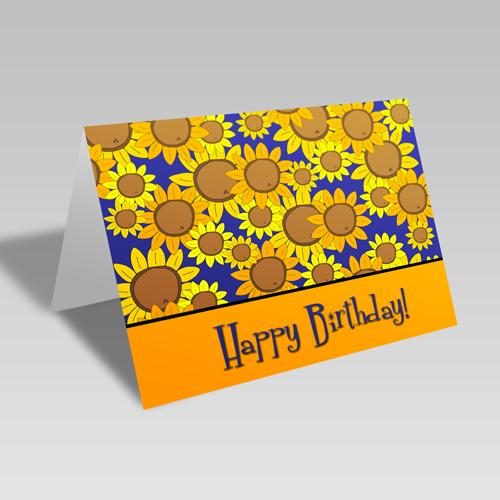 Birthday Sunflower Burst Card