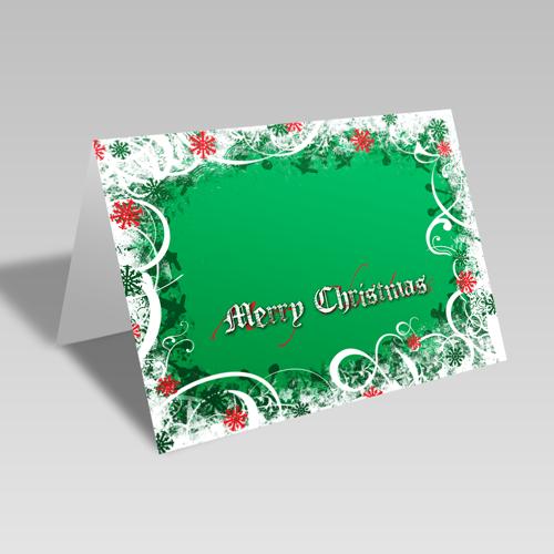 Christmas Snowflakes & Swirls Card