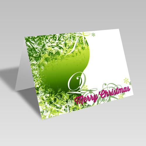 Christmas Swirls Card: Lime