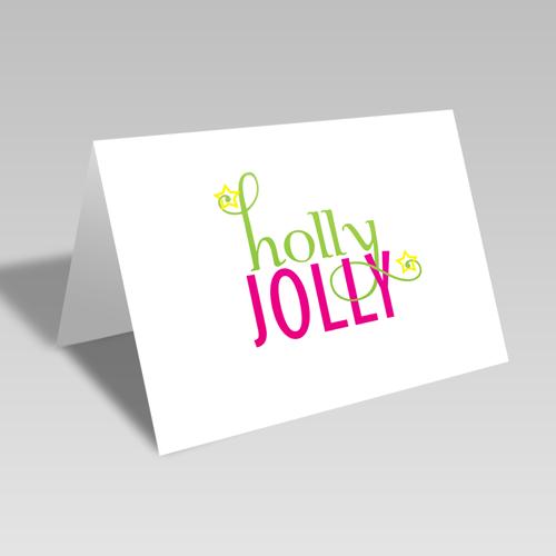 Fancy Holly Jolly Card