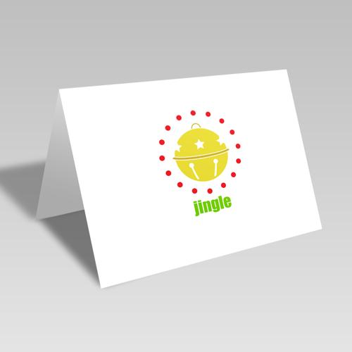 Jingle Circular Card: Gold