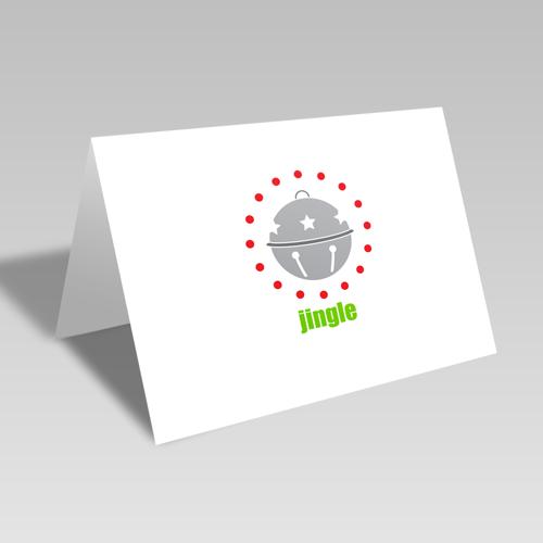 Jingle Circular Card: Silver