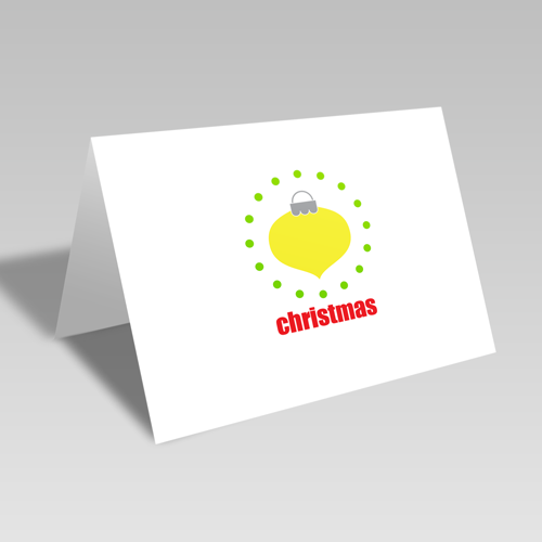 Christmas Ornament Circular Card